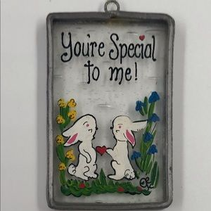 """Vintage Suncatcher """"You're Special to Me"""""""